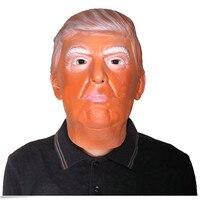Donald Trump Máscara Do Traje do Dia Das Bruxas Masquerade Carnaval Máscara De Látex Realista, Hillary Clinton Traje Festa de Halloween Cosplay