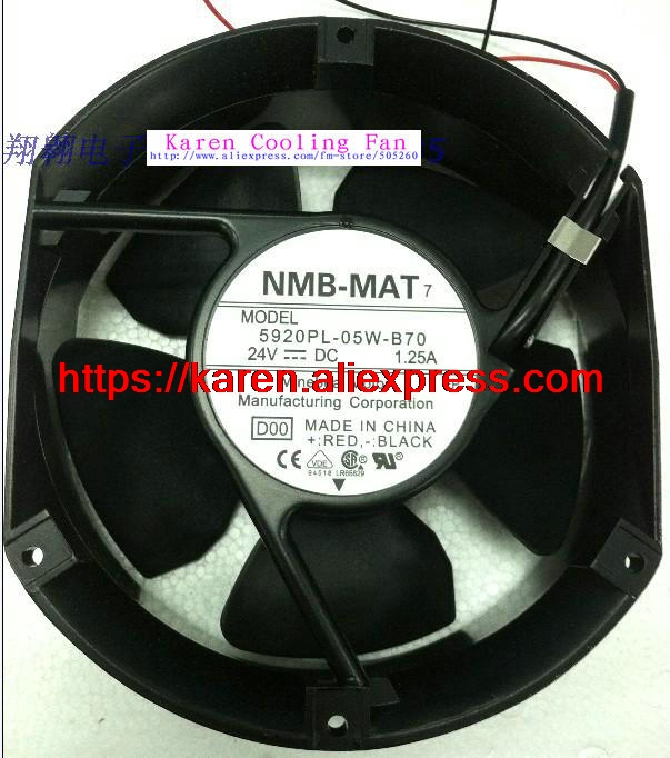 NEW Original NMB 5920PL-05W-B70 17251dc24v  cooling ventilation fan new nmb mat minebea 5920pl 07w b46 17251 48v 0 52a frequency converter cooling fan