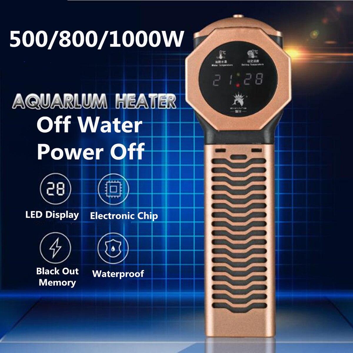 Chauffe-eau anti-déflagrant de tige de chauffage de température de PTC d'affichage de LED de réservoir de poissons d'aquarium Submersible pour l'aquarium d'aquarium