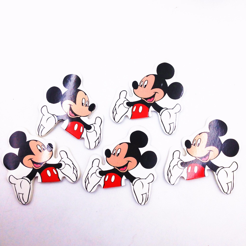24pcs 6 Designs Of Cupcake Toppers Picks Mickey Mouse Party Decorations Baby Shower Kids Birthday Party Supplies in Cake Decorating Supplies from Home Garden
