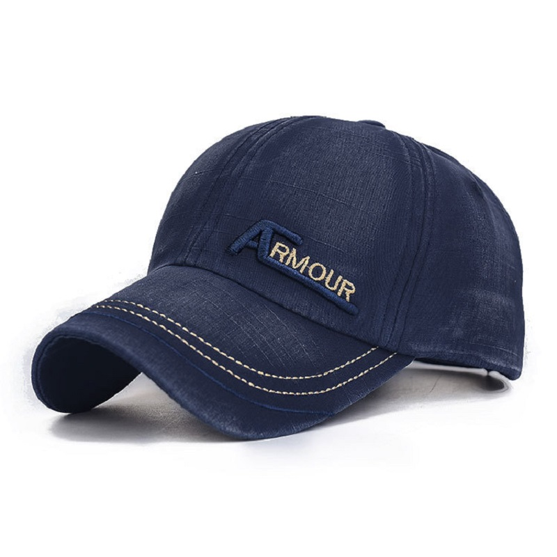 100% Cotton Snapback Cap Unisex Casual Letter Embroidery Washed Baseball Caps Summer Fall Hat Solid Color