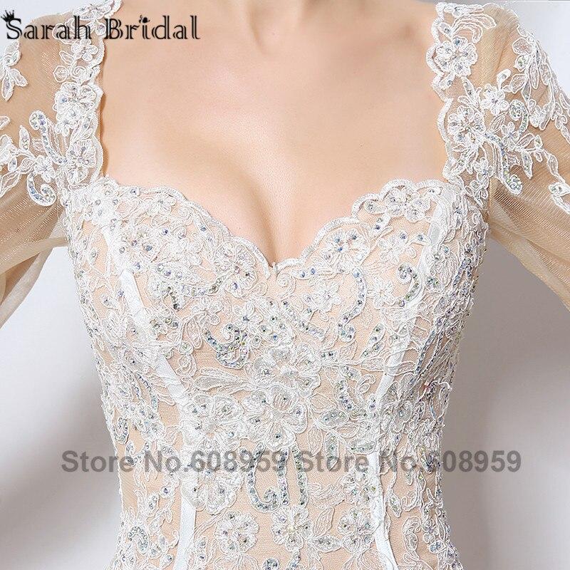 Nude Cut Srebrna večernja haljina Nova moda Crystal čipka tri - Haljina za posebne prigode - Foto 4