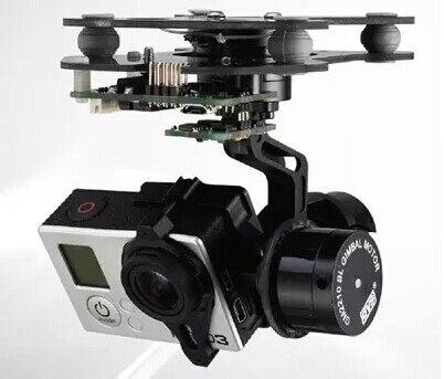 RTF 3 axes Smart Gopro support de caméra à cardan sans balai avec moteur et contrôleur de cardan