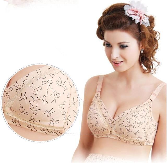 Maternity Nursing Bra Cotton Push Up Breast Feeding 5