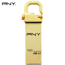 PNY Genuine Gold HOOK Attache USB3.0 Flash Drive 16GB Pen Drive Real Capacity 16GB Metal Pendrive High Speed USB Stick Disk Gift