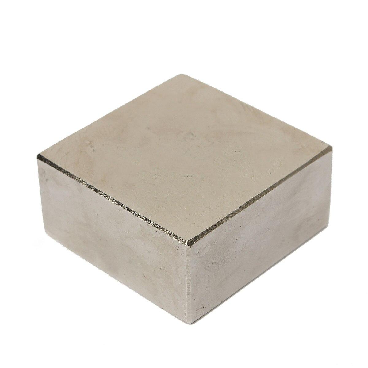 1 unid N50 neodimio NdFeB imán fuerte cuadrado cubos bloques imanes de tierras raras 45*45*20mm mayitr potente Material magnético