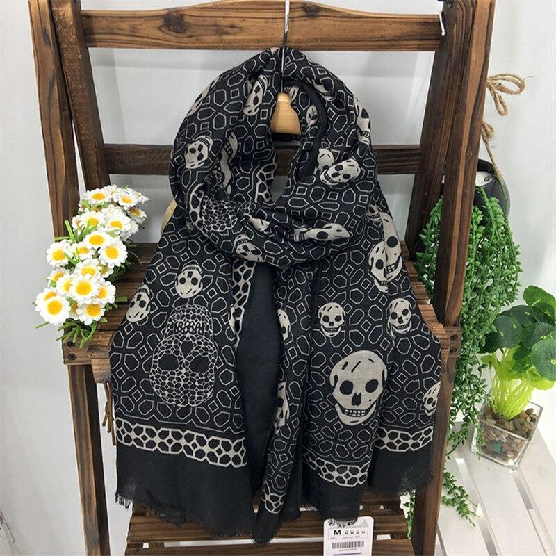 Cotton Cloth Black Skulls Red Skull Scarf Skull Scarf Skull Scarf