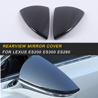 ABS Car Rearview Mirror Cover Trim Car Exterior Accessories for Lexus ES200 ES300 ES260