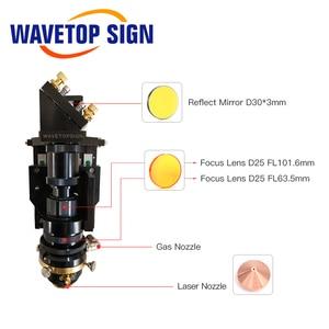 Image 2 - WaveTopSign testa di taglio Laser a CO2 mista 500W lente di messa a fuoco 25*63.5 25*101.6mm specchio riflettente 30*3mm messa a fuoco automatica ibrida Non metallica in metallo