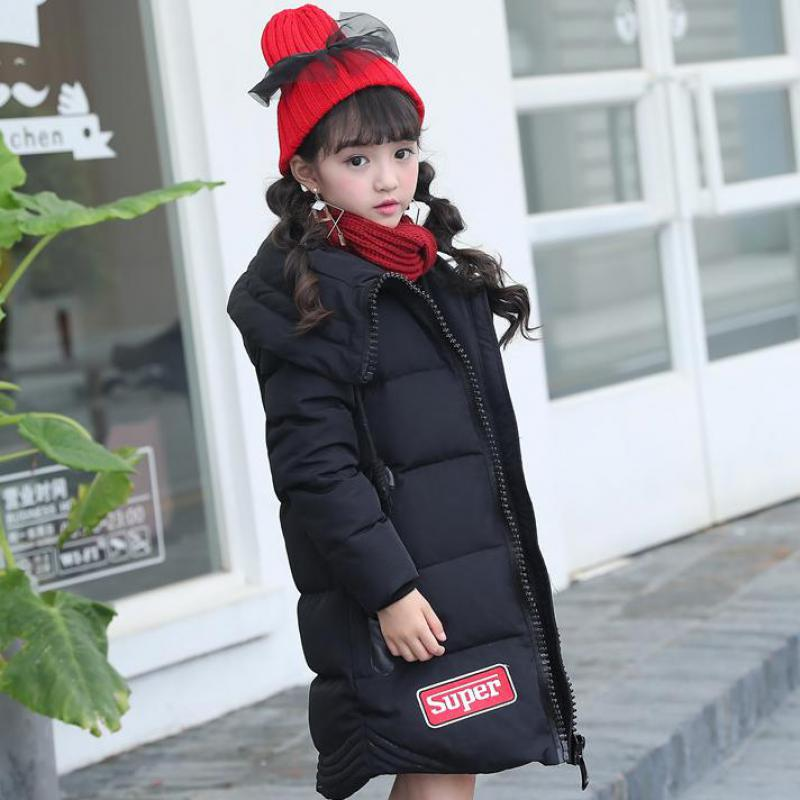 2017 New Children Clothing Winter Duck Down Coats Girls Thick Outer Jackets Collar Long Hooded Down Jacket Kids Clothes 12 13 14 kids clothes children jackets for boys girls winter white duck down jacket coats thick warm clothing kids hooded parkas coat
