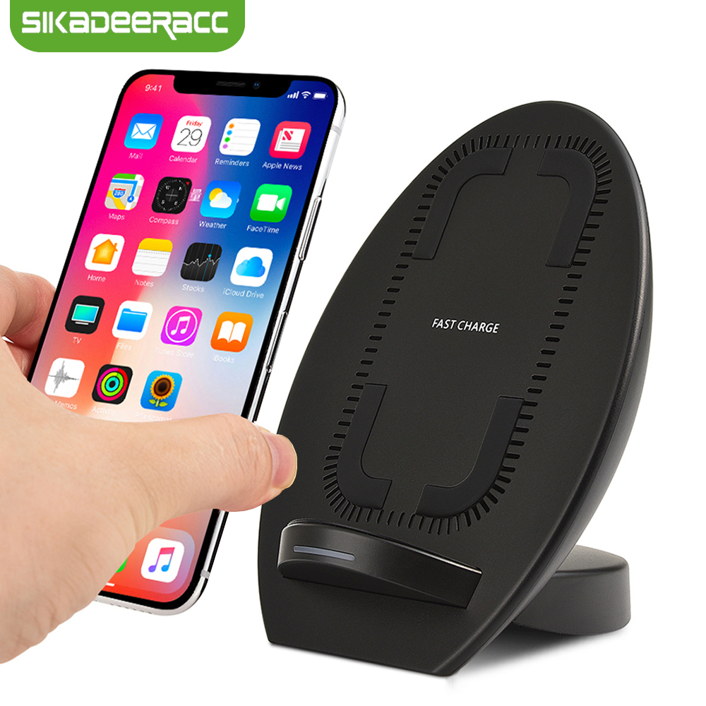 JK68 Qi Wireless Charger Station For iPhone X 8 Plus Samsung Note 8 S8 Plus S7 Edge Wireless Quick Charging Dock Stand Charger