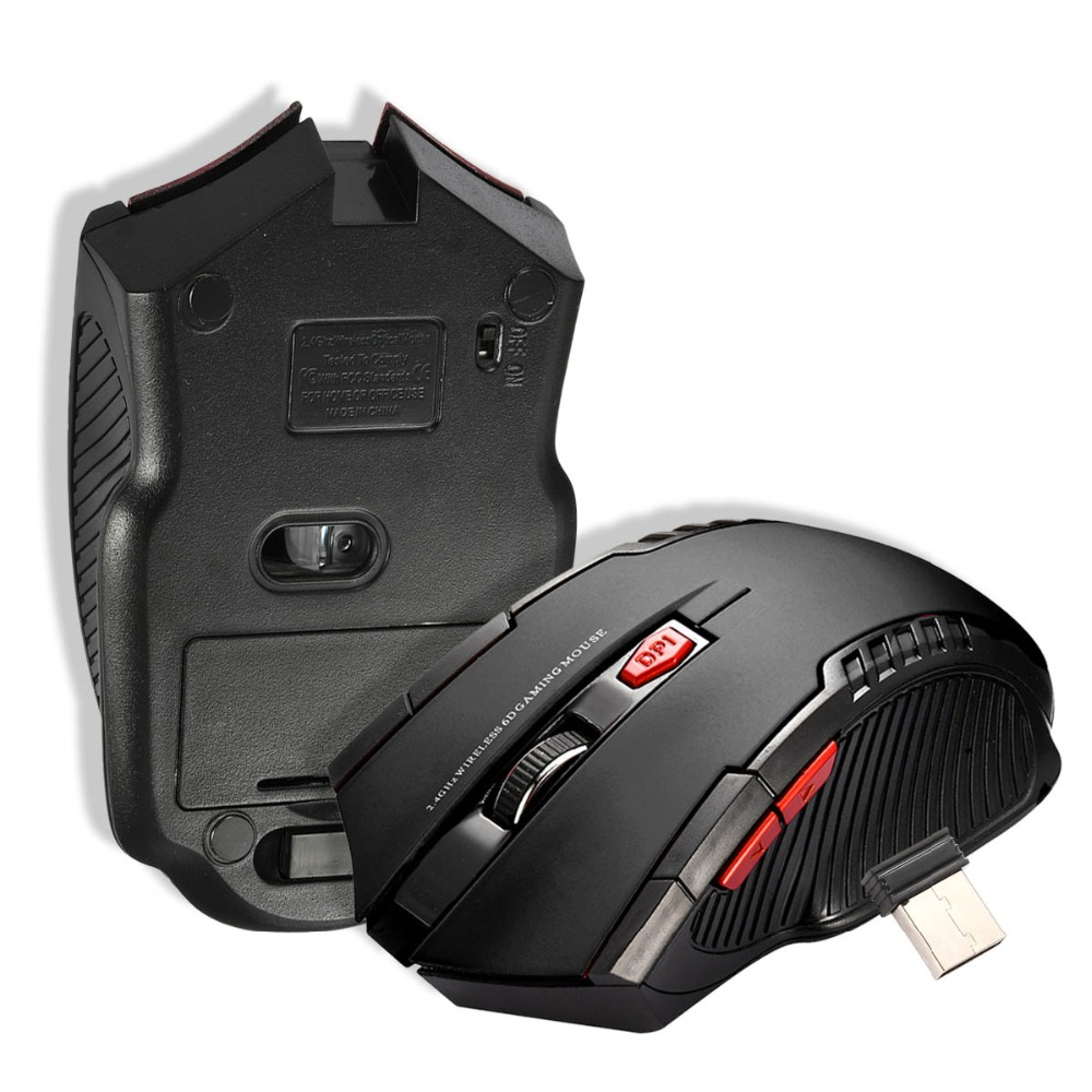 2400DPI 6 Buttons Wireless USB Optical Pro Gaming Mouse Mice For PC Laptop