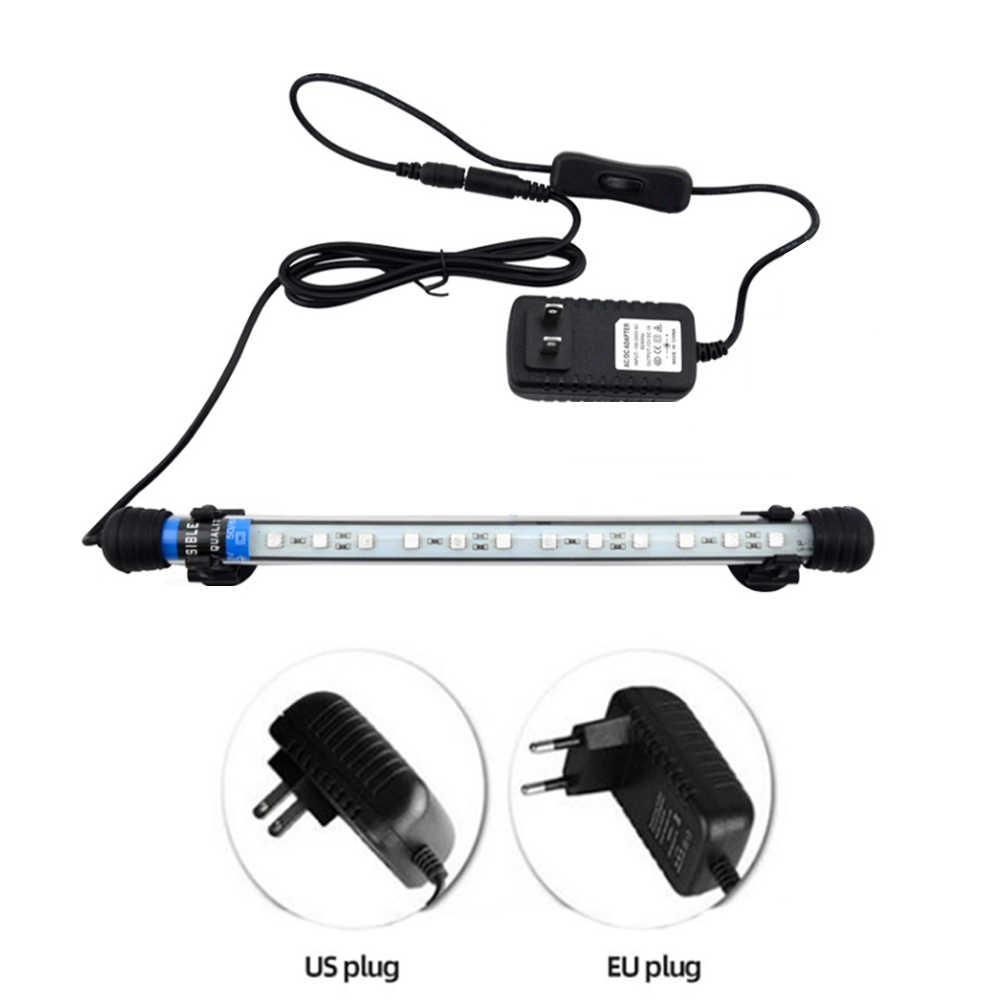Aquarium LED กันน้ำถังปลาใต้น้ำโคมไฟปลาพิพิธภัณฑ์สัตว์น้ำ Decor แสงสำหรับพืช EU/US Plug 100 V-240 V