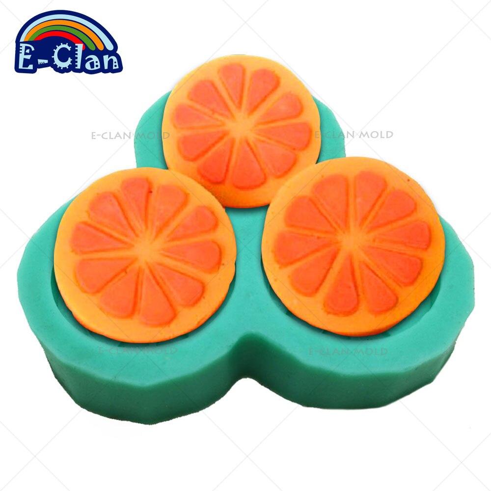 DIY Orange Silicone Molds For Cake Pudding Soap Making Mould 3 Orange Handmade Soap Mould Chocolate Mold S0075CZ25