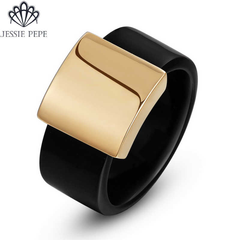 Jessie Pepe Italina Hot Sale Wide Ring  Anel  Rose Gold Color Top Quality Party Jewelry Large Size Full Size #JP13611