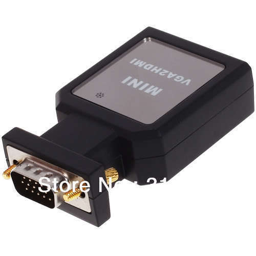 Free Shipping VGA Male +Audio to HDMI +Mini VGA TO HDMI Video Converter Adapter / 1080P / USB Power