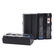 DSTE 3 шт. NP-F550 NPF570 NP-F550 Батарея для sony MVC-FD51 MVC-FD7 MVC-FD71 MVC-FD73 MVC-FD73K MVC-FD75 FD81Camera YN308 VL162T