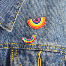 Cute rainbow enamel pins Brooches Badges Lapel pins Summer Festival jewelry Denim jacket blouse backpack hat accessories