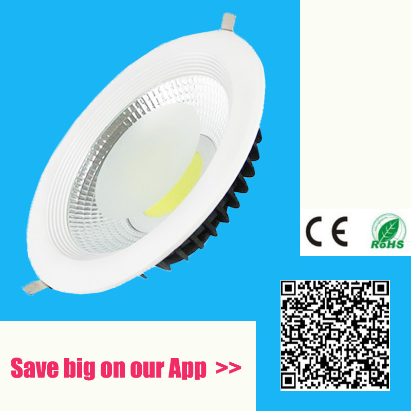 5W 10W 20W 40W 60W LED COB downlight Dimmable Innfelt LED taklampe Spot Led Light Lamp naturlig / varm hvit led lampe ip44