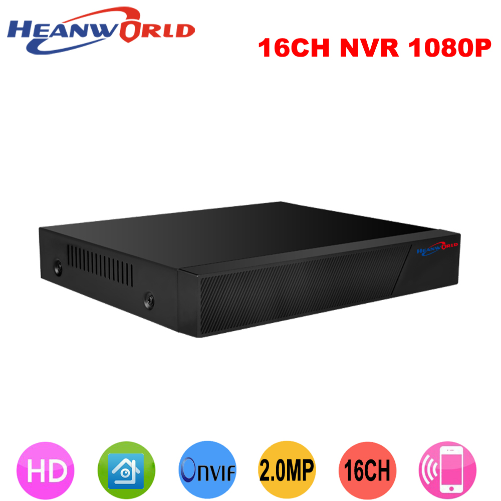Heanworld h.264+ 16ch full hd nvr 1080p network video recorder 2.0 mp 16 channel p2p cloud onvif cctv record system vga hdmi