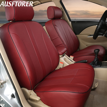 AUSFTORER Custom Covers Seat for Citroen C4 Aircross PVC Leather Seat Cover Cushion Support Front & Rear Interior Accessories