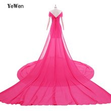 Rose New Elegant Evening Dress 2017 Long upper body strech with Chiffon removable 2M long train for Pregnant woman Prom