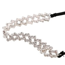 Rhinestone Choker with Ribbon