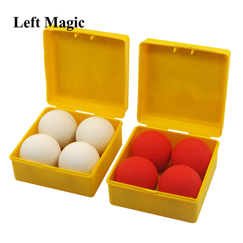 Good Quality Best One Ball To Four White Red Soft Rubber Multiplying Ball Stage Magic Tricks Magician Props Magic Toy 83150