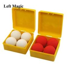 Хорошее качество, лучший от одного мяча до четырех, белый, красный, мягкий резиновый, размножающийся шар, сценические фокусы, магический реквизит, волшебная игрушка 83150