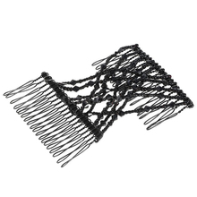 2pcs Fashion DIY Hair Comb Elastic Women Stretchy Double Insert Clips Comb Acces