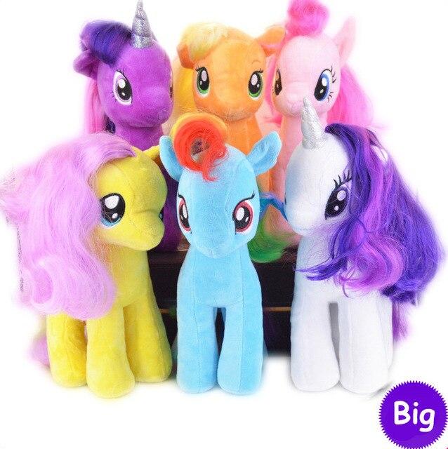 Poni Bonito Enfeites de Boneca de Pelúcia Brinquedos Pequenos Cavalos Unicórnio Brinquedos Modelo Para As Crianças/Menina 19 cm