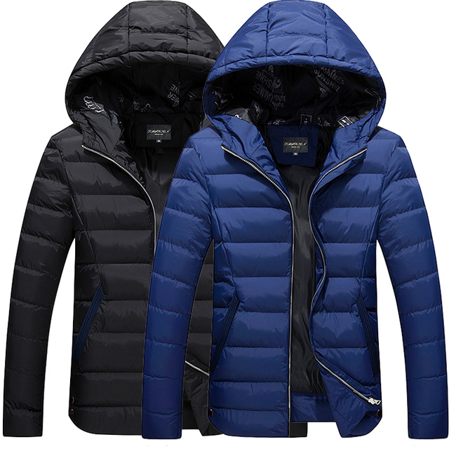 M-4XL 2016 New Fashion Men's Winter Warm Jacket Hooded  Casual Coat Cotton-padded Jacket Parka Overcoat Hoodie Thick Coat hot