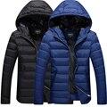 M-4XL 2016 Nova Moda masculina Inverno Quente Casaco Jaqueta Com Capuz Casuais de Algodão-acolchoado Jacket Parka Casaco Moletom Com Capuz de Espessura casaco quente