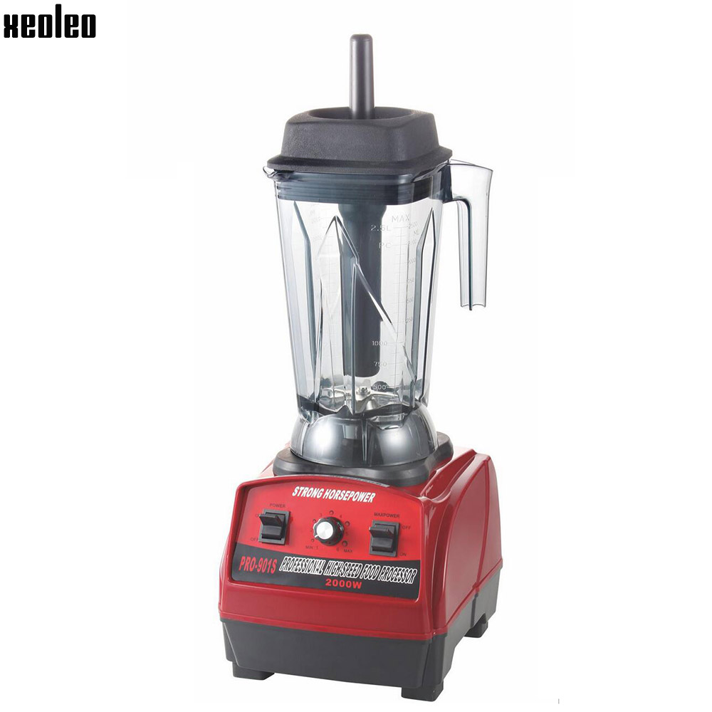 Xeoleo Heavy duty Blender 2000W Strong Food blender 2.5L Food mixer Comercial Juice blender Food machine Smoothie maker 220V 767s heavy duty commercial blender mixer smoothie maker machine 2200w 2l 220v 110v various speed versatile