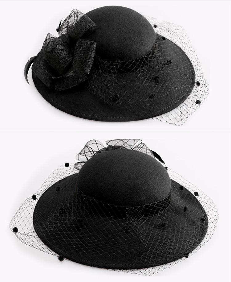 Chapeau cloche de Mariage Avec Voile