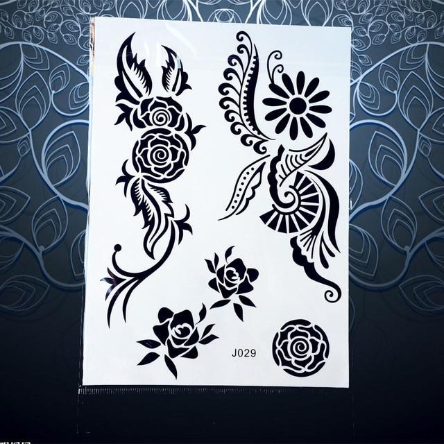1pc Flash Metallic Tattoo Women Black Ink Mehndi Henna Waterproof