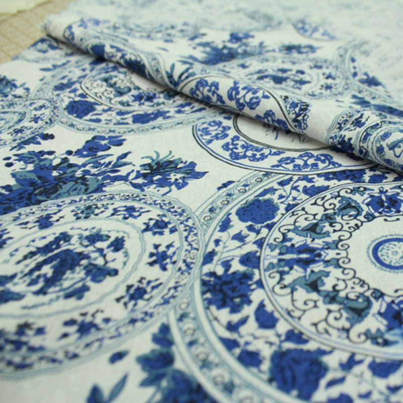 Eco-Friendly CottonLinen Printed Fabric For tablecloth