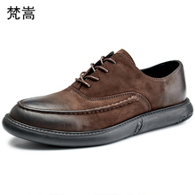 Mens Casual shoes breathable Spring leather genuine cowhide sneaker fashion boots men Leisure shoes Lace-Up Business Men Shoes ecco fashion casual men sneakers genuine cow leather shoes mens business breathable waterproof casual sports shoes