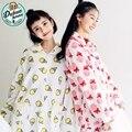 Mulheres flanela Pijamas Set Coréia Bonito Meninas Homewears Sleepwears Lar Roupa Quente Dos Desenhos Animados Das Mulheres Pijamas Salão Pajama Set 306