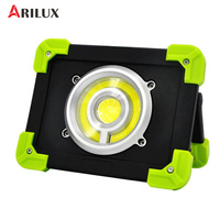 ARILUX Portable Camping Lights 20W 1500LM LED COB Work Lamp USB Rechargeable 6000Mah Waterproof IP44 Floodlight