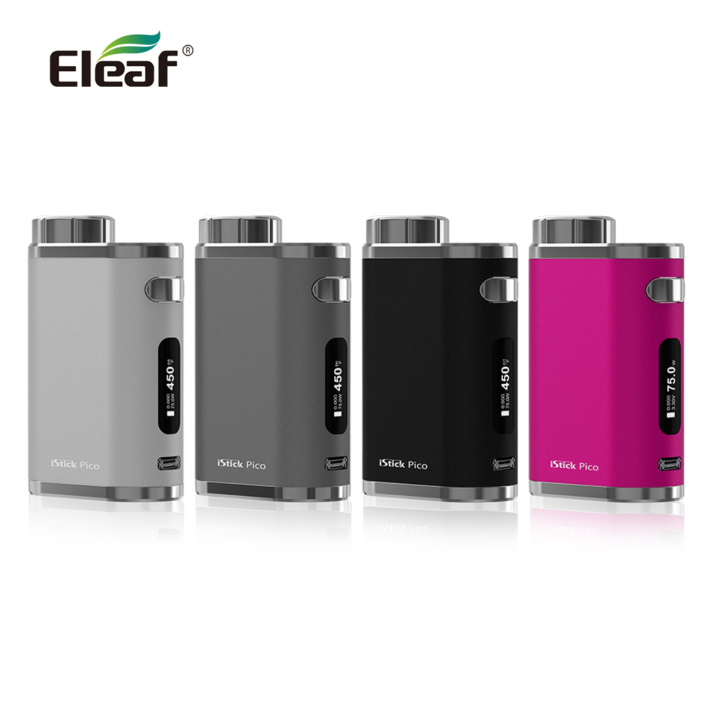 France Warehouse Original Eleaf iStick Pico Mod 75w fit with melo 3/melo 3 mini atomizer Electronic Cigarette vape mod original 75w eleaf istick pico tc box mod vape vaporizer temp control mod e cig no 18650 battery fit melo 3 melo 3 mini atomizer