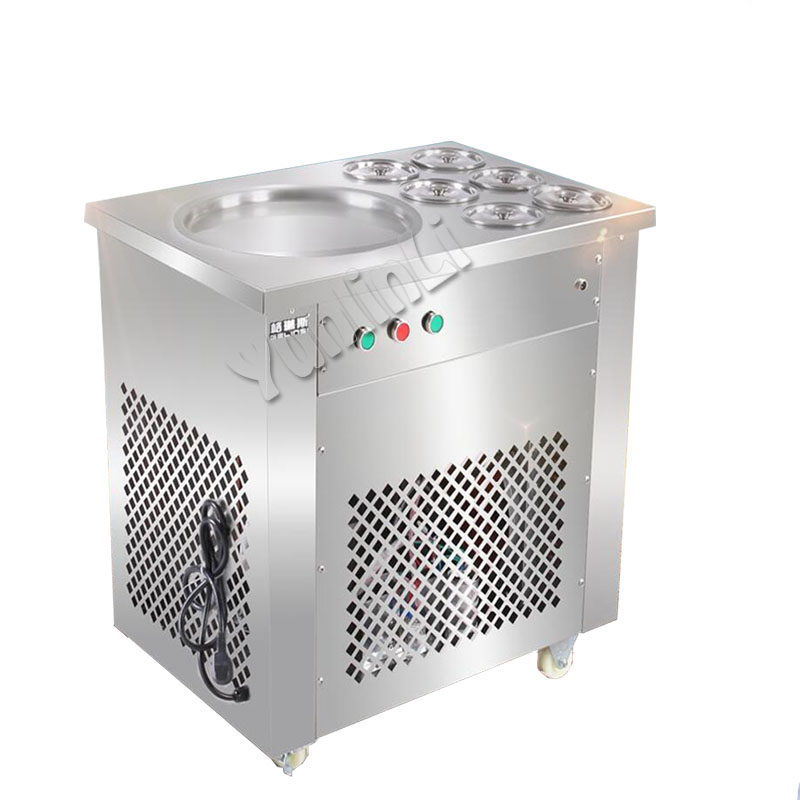 Stainless Steel Fried Ice Cream Machine Fried Ice Cream Maker Ice Cream Roll Machine Ice Cream Rolled Yogurt Maker HX-CBJ-22