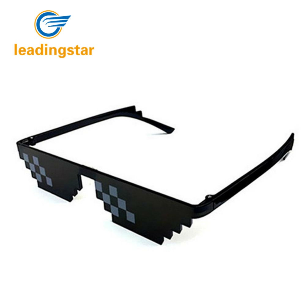 Men's Sunglasses Practical Deal With It Sunglasses Thug Life Glasses Women Men Dealwithit Minecraft Polygonal 8 Bits Style Pixel Party Funny Eyewear Uv400 Apparel Accessories