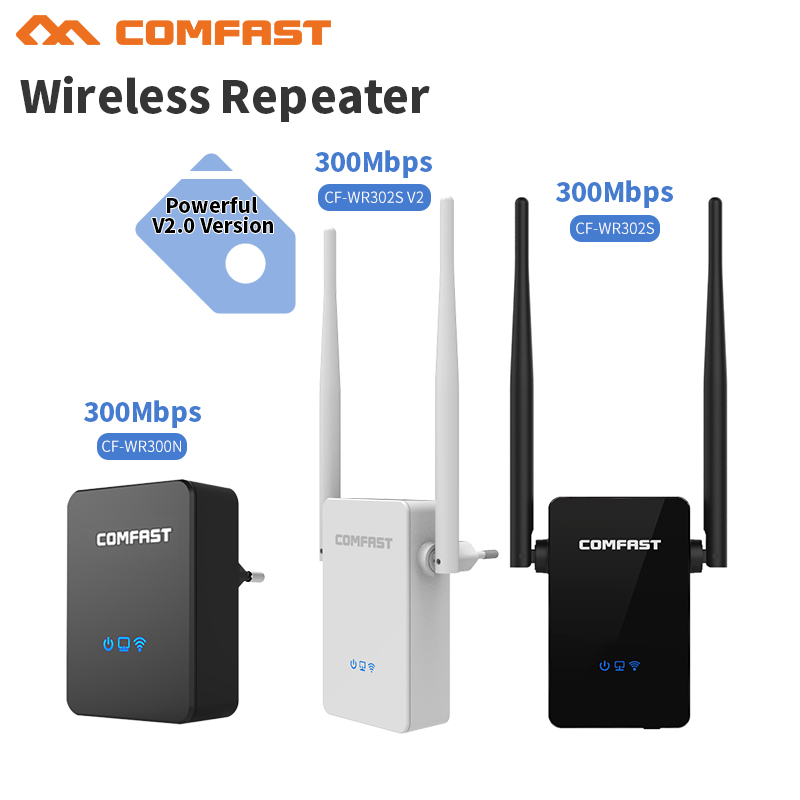 Home Long Range 300Mbps Wireless WiFi Repeater Wi-fi Expander Range Signal Boosters Network Amplifier 802.11n/b/g Wifi Extender