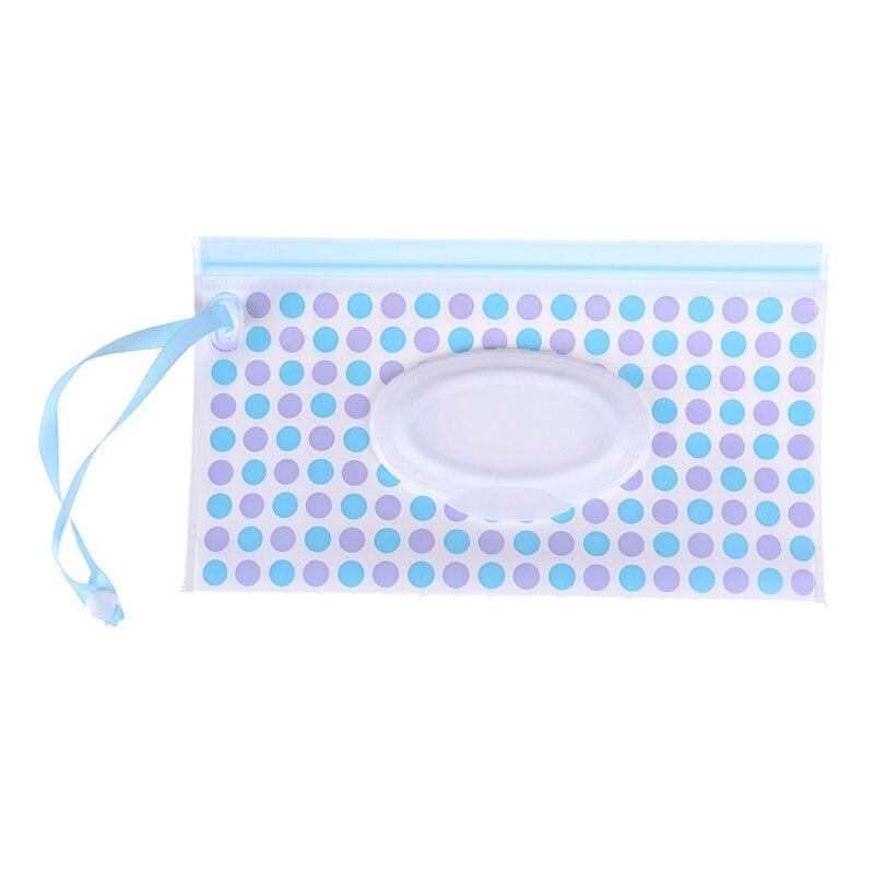 Клатч и чистые салфетки, чехол для переноски, экологически чистые влажные салфетки, сумка-раскладушка, косметичка, удобная для переноски, с застежкой, контейнер для салфеток - Цвет: 1pcs
