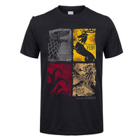 Tops Summer Cool Funny T Shirt Game Of Thrones Vintage Tees Men T Shirt TV Series