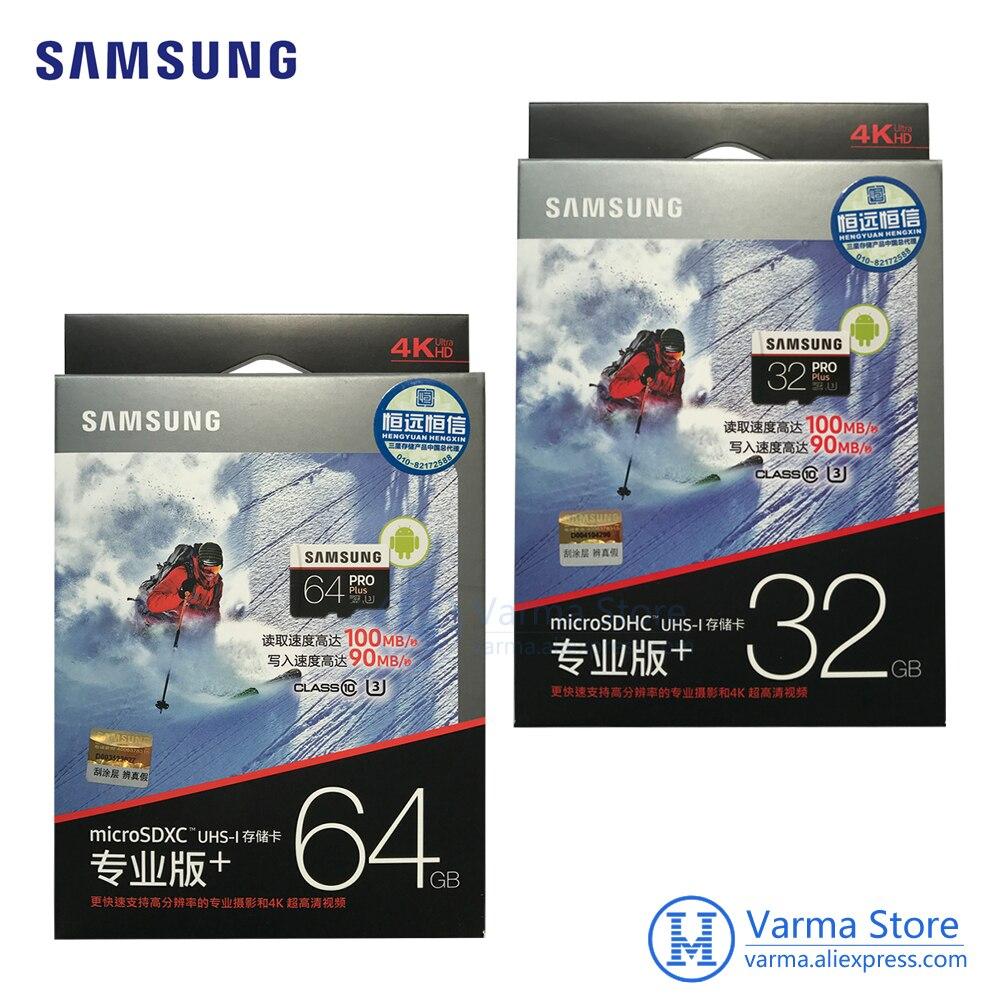 Samsung TF card MB-MD PRO Plus microSD flash memory card UHS-I 32GB / 64GB U3 Class10 microSDHC microSDXC high-speed memory card