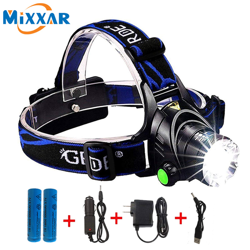 Led Headlamp 6000LM T6 L2 Zoomable Headlight Waterproof Head Torch flashlight Head lamp Fishing Hunting Light купить в Москве 2019