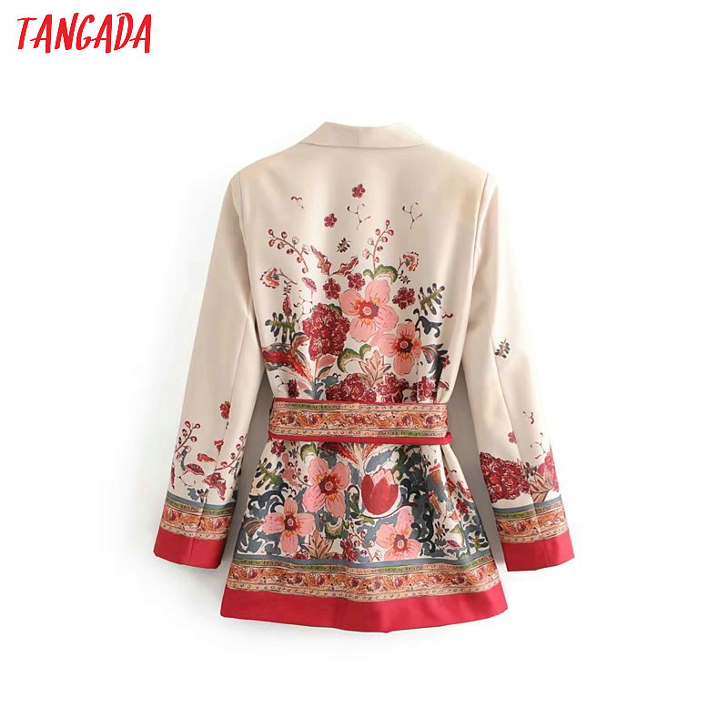 Tangada Women Suit Blazer Floral Designer Jacket Korea Fashion Long Sleeve Ladies Blazer Female Office Coat Blaser 3h48 #3