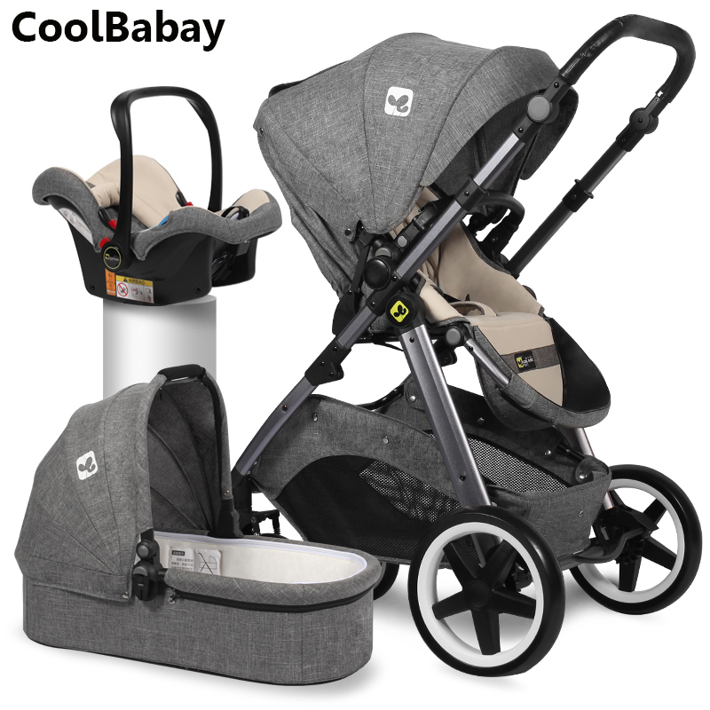 CoolBabay bébé poussette CoolBaby peut être couché ordinateur portable bébé poussette chariot livraison gratuite 3 en 1 livraison gratuite